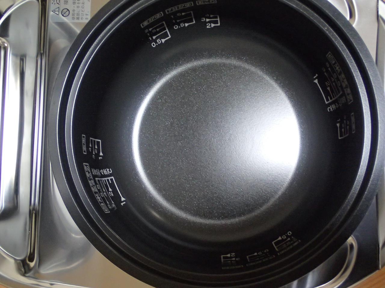 ガス炊飯器を上から内釜