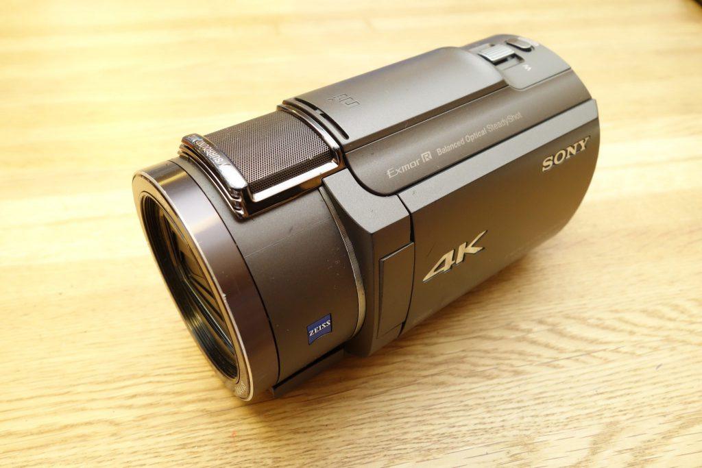 SONYのデジタル4KビデオカメラレコーダーFDR-AX40に挿入したら偽物サンディスクmaicro sdxc sandiskでエラー発生