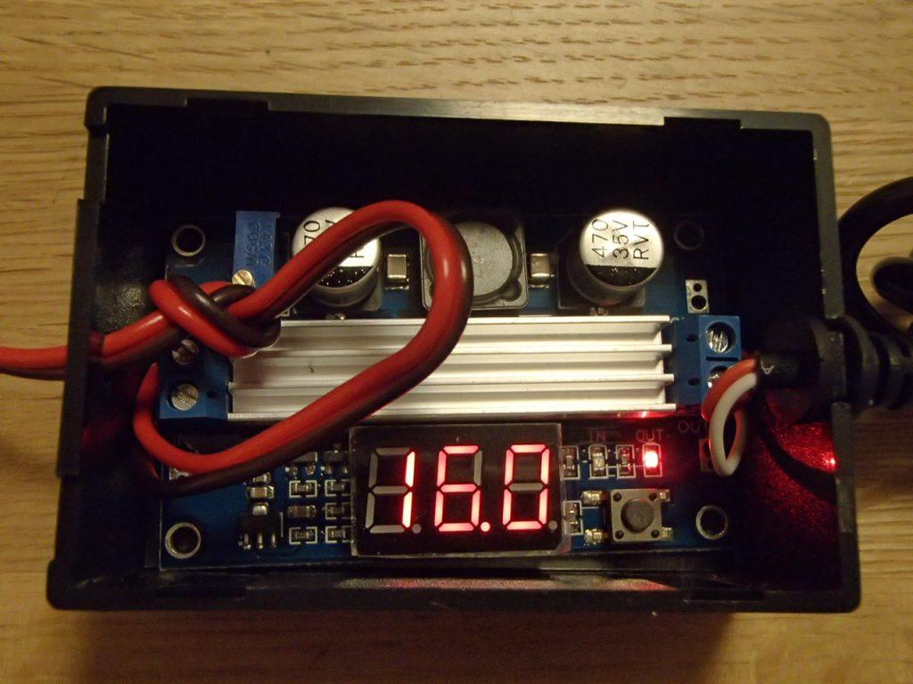 昇圧型DCコンバータ出力電圧を調整