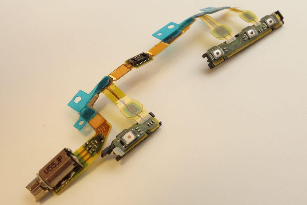 Xperia Z3 Compact■SO-02G■ボタンスイッチフレックスケーブル■フレキシブル■修理パーツ■ソニー■SONY d5803 d5833
